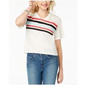 Ultra Flirt Red Chest Stripes Football T-Shirt